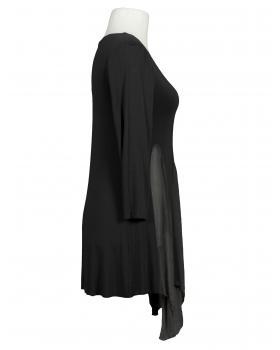 Tunika Shirt mit Seide, schwarz