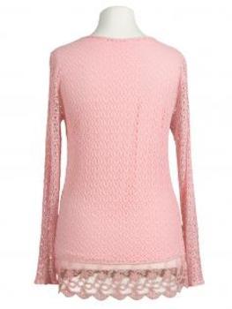 Tunika Shirt mit Spitze, rosa (Bild 2)