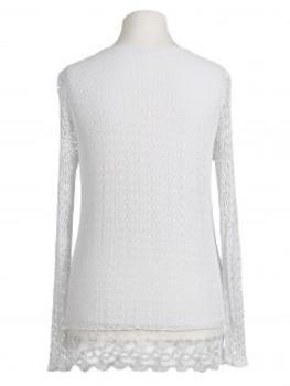 Tunika Shirt mit Spitze, weiss (Bild 2)