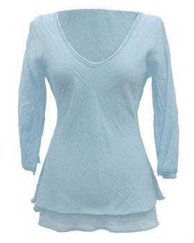 Tunika Bluse Baumwolle, bleu von RESTART
