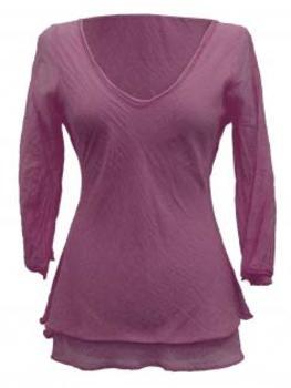 Tunika Bluse Baumwolle, mauve von RESTART