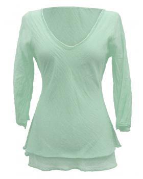 Tunika Bluse Baumwolle, mint von RESTART von RESTART