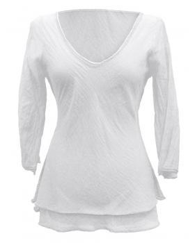 Tunika Bluse Baumwolle, weiss von RESTART von RESTART