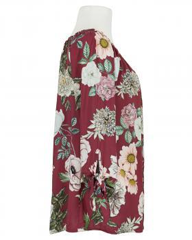 Tunikabluse Blumenprint, bordeaux (Bild 2)