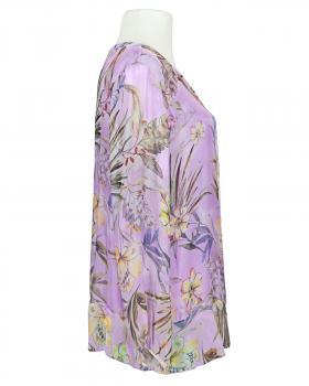 Tunikabluse Floral mit Seide, lavendel (Bild 2)