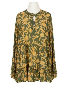 Tunikabluse Ornamentprint, oliv von New Collection