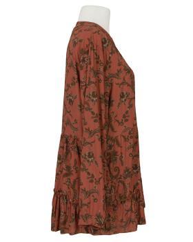 Tunikabluse Ornamentprint, rost