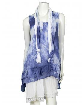 Tunika Kleid 3-tlg., blau (Bild 1)