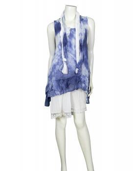 Tunika Kleid 3-tlg., blau
