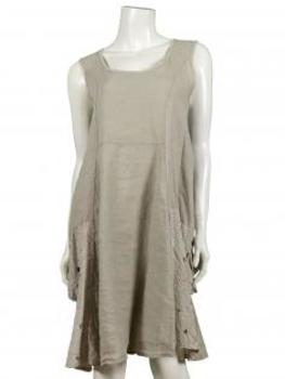 Tunika Kleid Leinen, beige