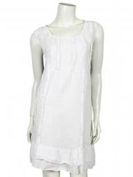 Leinen Tunika Kleid, weiss