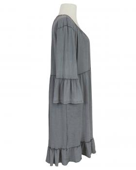 Tunikakleid Baumwolle, grau (Bild 2)