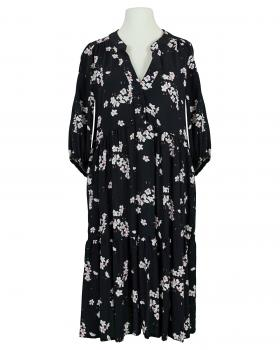 Tunikakleid Blumenprint, schwarz von Vincenzo