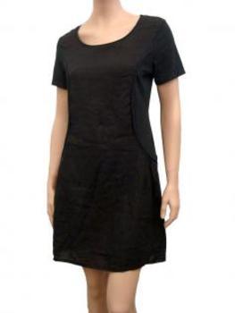 Leinenkleid A-Form, schwarz
