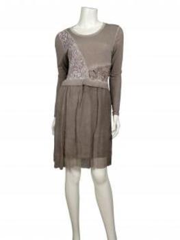 Tunika Kleid mit Spitze, schlamm (Bild 2)