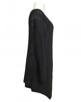 Überwurf Strickjacke, schwarz