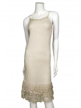 Unterkleid mit Spitze, beige von fashion made in italy