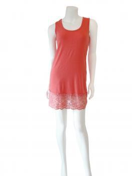 Unterkleid mit Spitze, koralle (Bild 2)