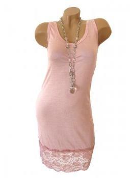 Unterkleid mit Spitze, rosa