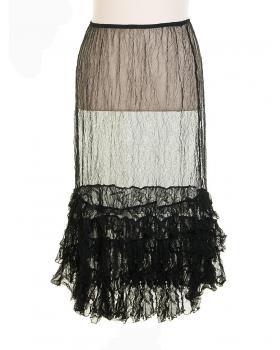Unterrock gecrinkelt, schwarz von Amandine (Bild 1)