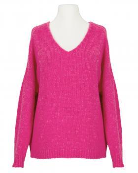 V-Ausschnitt Pullover Grobstrick, pink von Selected Touch