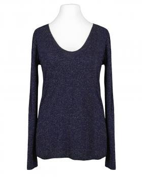 Viskose Shirt Lurex, blau
