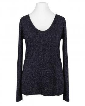 Viskose Shirt Lurex, schwarz