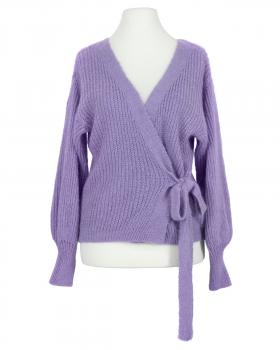 Wickel Strickjacke, lavendel von Diana
