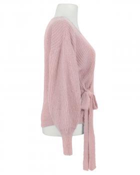Wickel Strickjacke, rosa