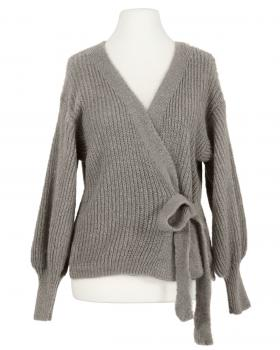 Wickel Strickjacke, taupe (Bild 1)
