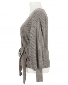 Wickel Strickjacke, taupe (Bild 2)